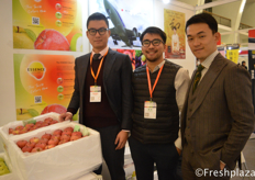 Wuyang Zhou (Joe) , Shohei Naito, Sheng Wei from Nihon Agri, INC.. Japanese export company for premium fruits. Export to Thailand, Hong Kong, Taiwan, Filippines and Malesia. //来自Nihon Agri, INC.的周无央,内藤祥平和韦晟。这家日本出口公司出口优质水果到泰国、香港、台湾、菲律宾和马来西亚。