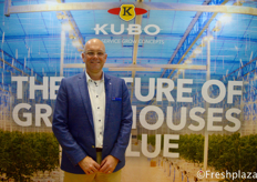 Dennis van Leijde from KUBO, they specialize in sustainable greenhouse projects and smart growing.来自KUBO的Dennis van Leijde,他们专注于可持续的温室项目和智能生长。