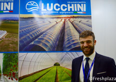 Matteo Lucchini from idromeccanica Lucchini. They are specialised in the production of greenhouses covered in plastic material for horticulture and floriculture, complete with the most advanced irrigation and heating systems with computerized control.来自Idromeccanica Lucchini的Matteo Lucchini。他们专门生产园艺和花卉用塑料覆盖的温室,配有最先进的计算机控制灌溉和加热系统。