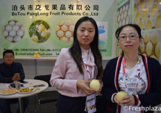 Mr. Pang, General Manager, and colleagues from Botou Panglong Fruit Products Co., Ltd. Specialised in growing, packing and exporting pears.来自泊头市庞龙果品有限责任公司的庞连波,该公司专门从事梨的种植、加工和出口。