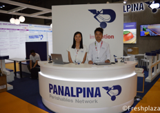 Jacqueline Chan Stanley Chan from Panalpina China Ltd. Panalpina provides supply chain solutions. The company combines its core products Air Freight, Ocean Freight, and Logistics and Manufacturing to deliver globally integrated, tailor-made end-to-end solutions for twelve core industries.来自泛亚班拿中国有限公司的Jacqueline Chan和 Stanley Chan。Panalpina提供供应链解决方案。该公司将其核心产品空运、海运、物流和制造业结合起来,为12个核心行业提供全球集成、量身定制的端到端解决方案。