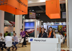 Viola Lam and her colleague from Hapag-Lloyd (China) Ltd.