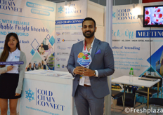 Melvin Xavier from Cold Chain Connect. Cold Chain Connect is a global perishable cargo alliance. Their objective is to bring together partners who have the know-how and expertise in moving perishable cargo under one roof. // 来自Cold Chain Connect的Melvin Xavier。Cold Chain Connect是一个全球易腐货物联盟。他们的目标是将在同一屋檐下搬运易腐货物方面拥有专门知识和专长的合作伙伴聚集在一起。