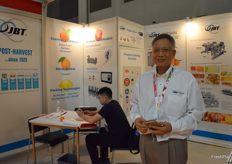 Mr. Alvin G. Chneg from JBT FoodTech. This is a food technology provider based in the US, the companys service including coating cleaners, decay control, packaging technologies and produce identification.