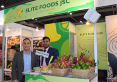 Mr Nguyen Xuan Truc (CEO) is leading his team from Elite Foods JSC at the exhibition.