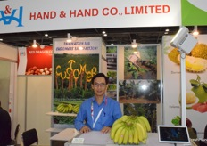 Mr Nguyen Huu Thien, the manager at Hand Hand Co., Ltd. Banana is their main product.