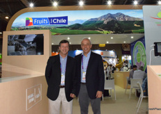Mr Carlos Gruzat from the Chilie Kiwifruit Committee and Mr Andres Armstrong from the Chilie Blueberry Committee.