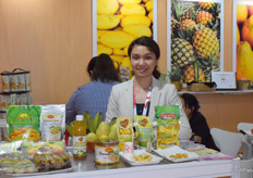 PearlFoods International, Inc. is a Philippian company that supplies processed fruit products such as banana chips and mango juice. Mrs Mary Angelette Gozo is in the picture.