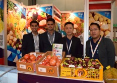 Kittidej Tanadumrongsakd and his colleagues are presenting TT Inter Fruit co., Ltd at the booth. Their main products including durian, pineapple, longan, and lychee.