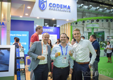 Codema hosted drinks for the end of a successful first day of the show and Arno van Deursen (Van der Valk Horti Systems) and Dave Debets (Debets Schalke) joined Jelmer Huizing with Codema.