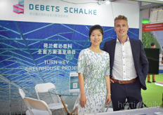 Rachel Zhou, Chinese representative with Debets Schalke and Dave Debets, general manager with the greenhouse building company.