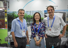Herve Savoure, Yue Li & Raphael Seydoux with Richel Greenhouses. Raphael Seydoux joined the company and will focus on the Chinese market.