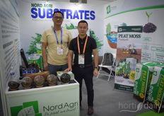 Eric, with Patent International Logistics, visits Nord Agri Substrates.