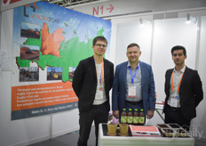 Ivan Desiatkov, Evgenii Suhikh & Hudoinazout Juraev with the joint-stock company Vyatkatorf from Russia, supplying peat.