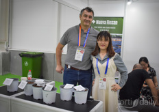 Vincenzo Sardone & Belle with Nuova Flesan, offering their peat and substrates and now looking for opportunities in China.