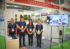 The Jiangsu Agrotop Agricultural Science & Technology company offers greenhouse solutions in various positions and offers schooling to help growers. Sandy & Zhang Yaoqiang in the photo with their colleagues.