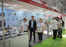 Geoffrey and his colleagues with the Qingzhou Mingzhi agricultural science and technology development company.
