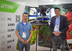 Liu Bin & Peter Rietveld with TTA Solutions. Their product is popular amongst the high-tech growers from both horticulture as floriculture.