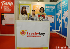 Yana, Tina Sun and Peiye from Fresh-Key. Specialised in keeping the fruit products fresh with customised dataloggers. // 来自鲜联的Yana、Tina Sun以及Peiye,该公司专注于保持产品新鲜的定制的数据记录仪。