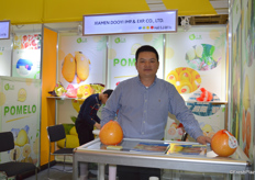 Mr Shengjin Huang of Xiamen Dooyi Imp. & Exp. Co., Ltd. is very happy to be able to attend the Fruit Logistca this year.平和县三绿果蔬有限公司的黄盛金经理很高兴能够来参加此次柏林果蔬展。