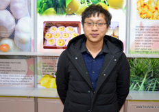 金乡县丰盛果蔬有限公司的业务经理隋东阁(Tony Sui)。 // Tony Sui, Export Manager at Jinxiang Fengsheng Fruits & Vegetables.