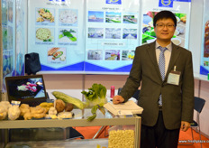 山东匠造农产品有限公司的国际市场部经理郑义。 // Peter Zheng, Sales Manager at Shandong Artisan Agricultural Products.