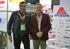Joaquin Gomez Carrasco, President of the APOEXPA export assocation from Murcia (R), together with Antonio Jose Bastida Lopez, director of Uniland // 来自穆尔西亚的 APOEXPA出口协会的Joaquin Gomez Carrasco,同Uniland的总裁 Antonio Jose Bastida Lopez一起