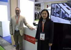 Leonardo Bigoni and Mandy Shang at the Sermac stand // Leonardo Bigoni和Mandy Shang在Sermac展台前