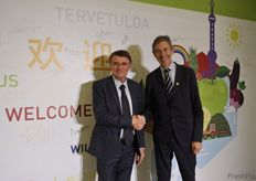 Macfrut President Renzo Piraccini and Vnu Exhibition Director Ton Otten // 意大利果蔬展会总监Renzo Piraccini和万耀企龙 展会总监Ton Otten