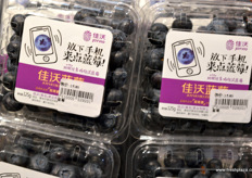 Blueberries by Joy Wing Mau, under the company's Joyvio brand. The company is known in China for it's blueberry production and marketing. // 佳沃鑫荣懋在其公司品牌Joyvio 下营销的蓝莓。该公司在中国以其蓝莓生产和销售二闻名。