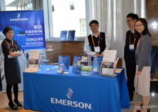 Emerson's China and Asia team with in the middle Pete Yu. // 艾默生的团队,中间是Pete Yu。