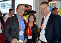 Gabriel Figueroa and Corne van de Klundert from Origin Direct Asia, together with Tina Sun from Cydiance.