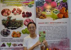 Daisy (Export Department Sales Manager) from Shaanxi HoVo Import & Export Co., Ltd. // Shaanxi HoVo Import & Export Co., Ltd的Daisy (出口部销售经理)。