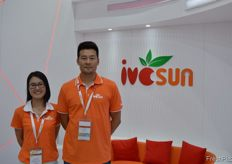 Operation Manager Nina together with Wang Xin Sales Director from Shanghai Ivcsun Industrial Development Co., Ltd. // 上海爱泽实业发展有限公司的运营经理倪娜与销售总 监王鑫。