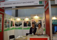 Yamei Cui and colleague from Kai Xiang Machinery. // Kai Xiang Machinery的Yamei Cui和同事。